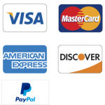 All the above cards are acceptable forms of payment. Payments are processed through Paypal.